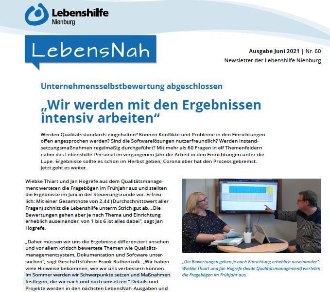 Newsletter LebensNah: Sommer-Ausgabe